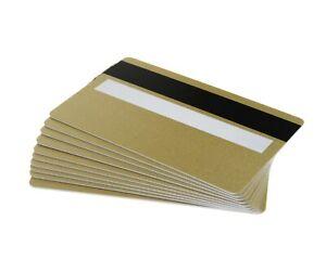 100 Pack of Light Gold Magnetic Stripe HiCo & Signature Panel Cards - FREEPOST