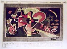 Arte Alfombra Tapiz WASSILY KANDINSKY - EN AZUL - 115 x 70cm reliefschnit
