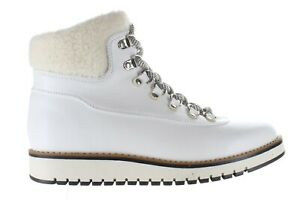 NEW White Mountain Womens Cozy White Lace-Up Boot BOOTIES Shoes size 6 NIB