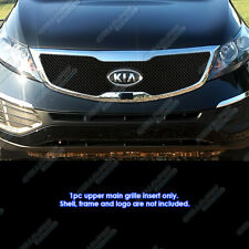 Fits 2011-2013 Kia Sportage Reg Model Stainless Steel Black X -Mesh Grille