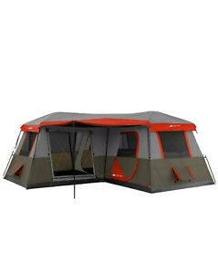 12 Person 16x16 Instant Cabin Tent 3 Room Outdoor Camping Picnic Canopy Shelter