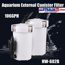 HW-602B Mini Aquarium External Canister Filter Cotton Sponge Water Pump 106GPH