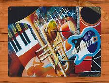 "TIN-UPS TIN SIGN ""Jazz Instruments"" New Orleans Music Art Wall Decor"