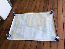1989 Vintage Canada  BC Sea Map Nautical Chart 3512 Strait of Georgia L/C 3512