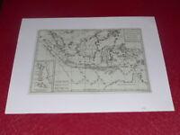 [CARTE GEOGRAPHIQUE XVIIIe] R.BONNE - INDONESIE ISLES DE LA SONDE (1780) Vintage