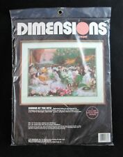 """New listing Vintage Dimensions Crewel Embroidery Kit Dinner At The Ritz 20"""" x 14"""" New #1388"""