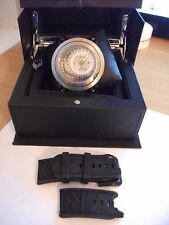 Ritmo Mundo Men's 202 SS Black Persepolis Dual-Time Exhibition Automatic Watch