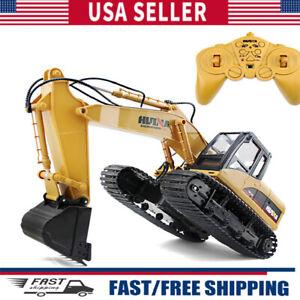 1:14 Remote Control Excavator Toy 2.4GHz Construction Equipment Bulldozer Toys