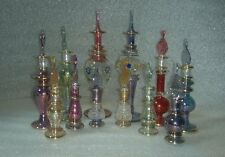 Lot of 12 Mix Mouth Blown Egyptian Perfume Bottles Pyrex Glass ++