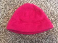 Girls Lands' End Fleece Hat Dark Pink Berry sz Big Kid M Medium
