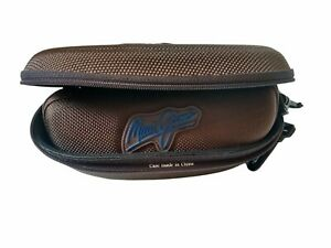 Maui Jim Pair Brown Zip Clip Semi-Hard Clam Shell Cases for Sunglasses 2 Sizes