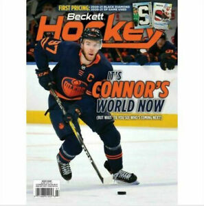 New July 2021 Beckett Hockey Card Price Guide Magazine With Connor McDavid