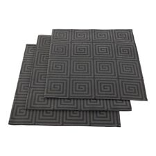 """Luxenap Air Laid Dinner Napkins - Soft and Durable 16"""" x 16"""" Greco Black Paper"""