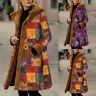 Women Ladies Fleece Hooded Outwear Overcoat Winter Button Long Coat Jacket A