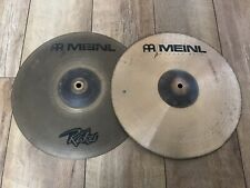 "Meinl Raker 14"" Hi Hat Cymbals Rare Vintage Good Condition"