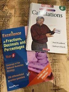 2 X Year 6 Maths Teacher Resource Books / Calculation / Fractions, Decimals , %