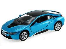 Kinsmart Bmw i8 Diecast Display Toy Car 1:36 KT5379D Blue