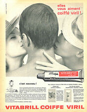PUBLICITE ADVERTISING 015  1962  VITABRIL    brillantine VIRIL