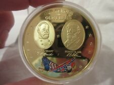 American Mint Proof 2013 Gold Plate Civil War Coin of Our Heroes and our Flags