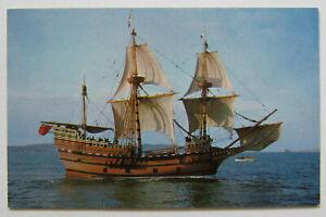 Mayflower II Ship Plymouth Massachusetts Postcard