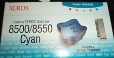 GENUINE XEROX CYAN SOLID INK 108R00669 (3 STICKS) PHASER 8500 8550 SEALED A348