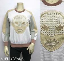 STELLA McCARTNEY Mesh Embroidery SUPERHERO Jumper Sweatshirt Top 36 S 2 4 6 $900