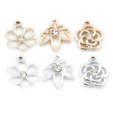 20pc Enamel Gold-plated Earrings Making Flower Pendant Maple leaves Charms L1300