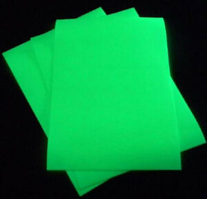 BUY 2 GET 1 FREE A4 1m Roll Glow In The Dark Photo luminescent Sign Making Vinyl
