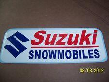 """1-Vintage Looking SUZUKI SNOWMOBILES Sticker(NewRed, White,Blue Vinyl) 3.5""""X 8"""""""