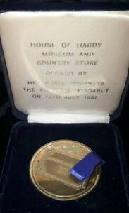 Alnwick HOUSE of HARDY FISHING MUSEUM  medallion opened 18/7/1987