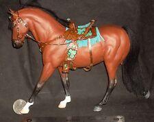 1:12 Horse Dollhouse Miniature painted Denise Prichett & Prestige Leather #2509