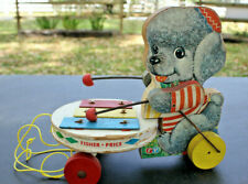 Vintage Old Antique 1952 Fisher-Price #739 Poodle Zilo Plays Zilo while walking