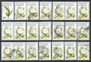 TRINIDAD & TOBAGO 1989 Tropical Flowers Used Issues Accumulation  (Jun 715)