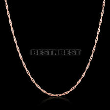 Fashion Women Ladies Small Rose Gold Plated Chain Necklace Gift
