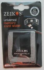 Zeikos Universal Memory Card Wallet New in Package MIP Fits all memory cards