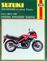 1983-1988 Suzuki GS550 GSX550 GS GSX 550 Four HAYNES REPAIR MANUAL 1133