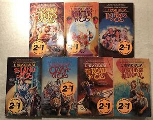 Lot Of 7 L. Frank Baum Oz Books PB