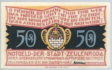 """Notgeld - Stadt Zeulenroda - 50 Pfennig - 1921 - Motiv 5 - """"Kl. Wolschendorf"""""""