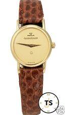 Ladies Vintage Jaeger Lecoultre 18K Yellow Gold 23mm Quartz Watch