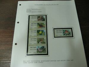 ERROR  POST & GO BIRDS set of 6 stamps  black  SHIFT to the right