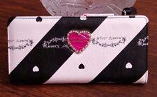 Betsey Johnson large wallet, color stripe