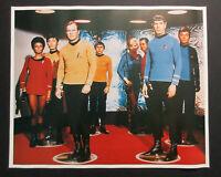 Original 1970's Star Trek tv cast poster: Captain Kirk/Mr Spock/Uhura/Sulu/1975