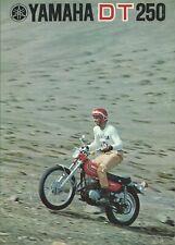YAMAHA DT 250   brochure publicitaire 1972