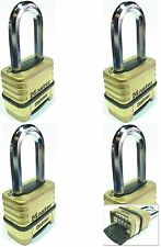 Combination Lock Set Master 1175LH (Lot 4) Resettable Long Brass Sealed Carbide