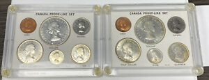 Lot Of 2 1964 CANADA PROOF LIKE COIN SET