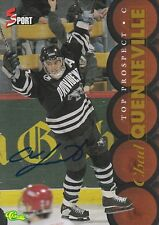CHAD QUENEVILLE SIGNED CLASSIC 5 SPORT HOCKEY CARD TOP PROSPECT PROVIDENCE COLL.