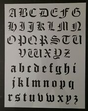 Old Olde English Alphabet Custom Stencil 8.5