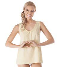 Damen-Nachtwäsche mit Trägertop aus Baumwolle ohne Muster