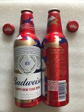 "2018 China Budweiser Beer ""Year of the Dog"" 355ml Empty Aluminum Bottle"