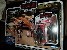 Star Wars Vintage Collection Poe Dameron's X-Wing Fighter + Knight of Ren Figure